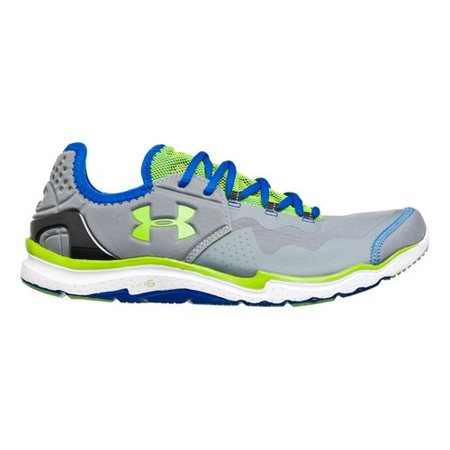 Mens Under Armour Charge RC 2 Running Shoe - Grey/Green 12.5