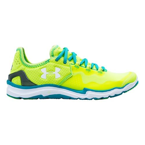 Womens Under Armour Charge RC 2 Running Shoe - Hi-Viz Yellow 9