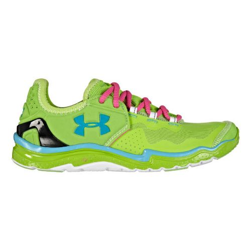 Womens Under Armour Charge RC 2 Running Shoe - Hyper Green/White 5.5