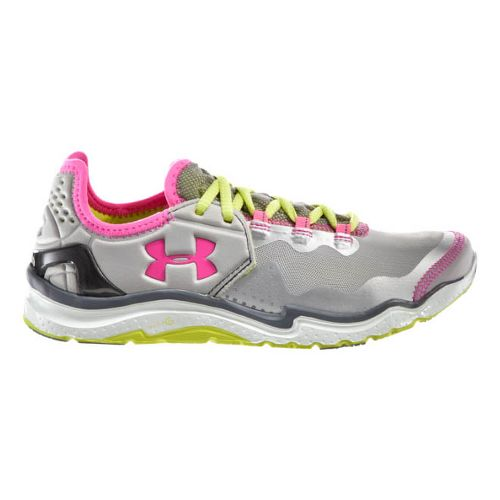 Womens Under Armour Charge RC 2 Running Shoe - Matte Silver/Neo Pulse 10.5