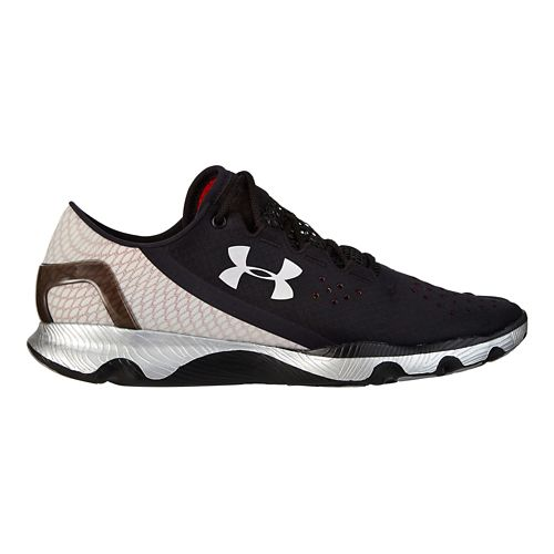 Mens Under Armour Speedform Apollo Running Shoe - Black/Metallic Silver 9.5