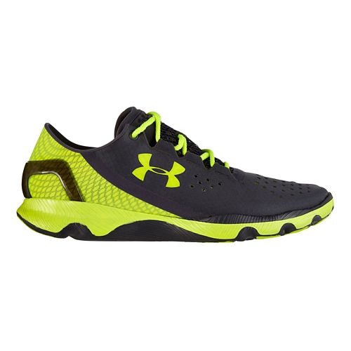 Mens Under Armour Speedform Apollo Running Shoe - Black/Volt 12.5