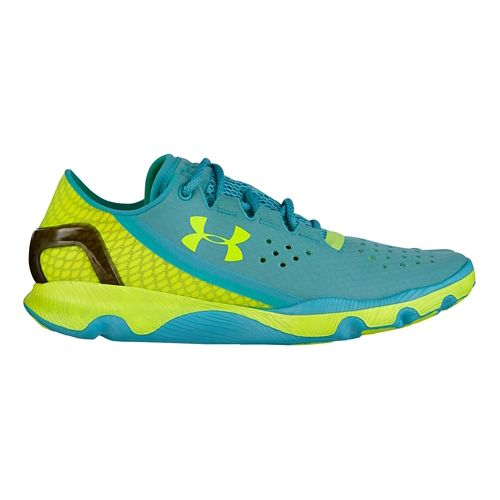 Womens Under Armour Speedform Apollo Running Shoe - Blue/Volt 5