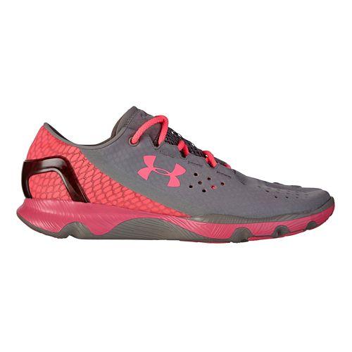 Womens Under Armour Speedform Apollo Running Shoe - Grey/Pink 6.5