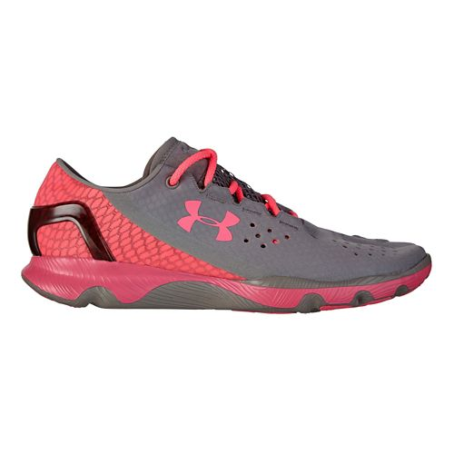 Womens Under Armour Speedform Apollo Running Shoe - Grey/Pink 8