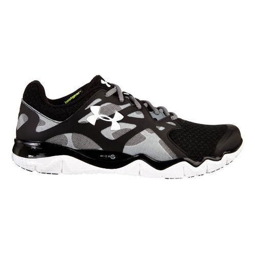 Mens Under Armour Micro G Monza NM Running Shoe - Black/Gravel 11