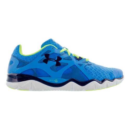 Mens Under Armour Micro G Monza NM Running Shoe - Blue 7.5