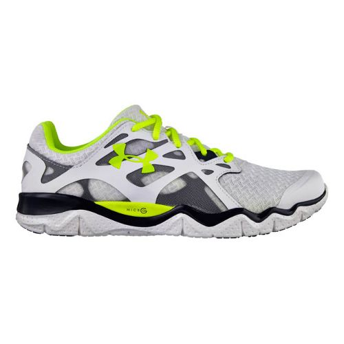 Mens Under Armour Micro G Monza NM Running Shoe - White 8