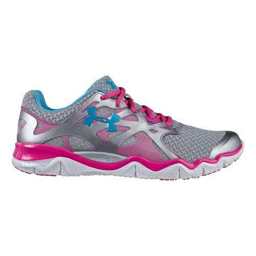 Womens Under Armour Micro G Monza NM Running Shoe - Metallic Silver 7