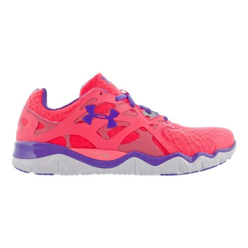 Womens Under Armour Micro G Monza NM Running Shoe - Pink 9