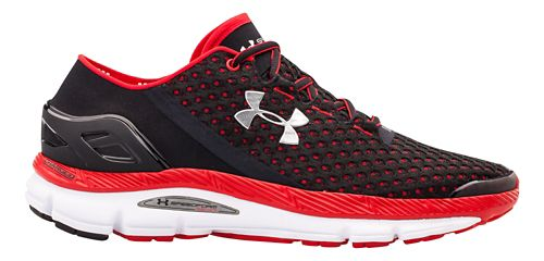 Mens Under Armour Speedform Gemini Running Shoe - Black/Red 10.5