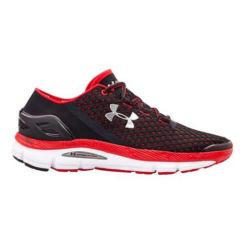 Mens Under Armour Speedform Gemini Running Shoe - Black/Red 12.5