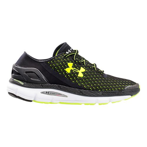 Mens Under Armour Speedform Gemini Running Shoe - Black/Yellow 12