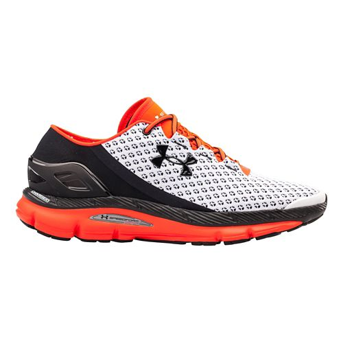 Mens Under Armour Speedform Gemini Running Shoe - White/Bolt Orange 9