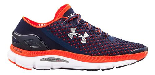 Mens Under Armour Speedform Gemini Running Shoe - Midnight Navy/Orange 11.5