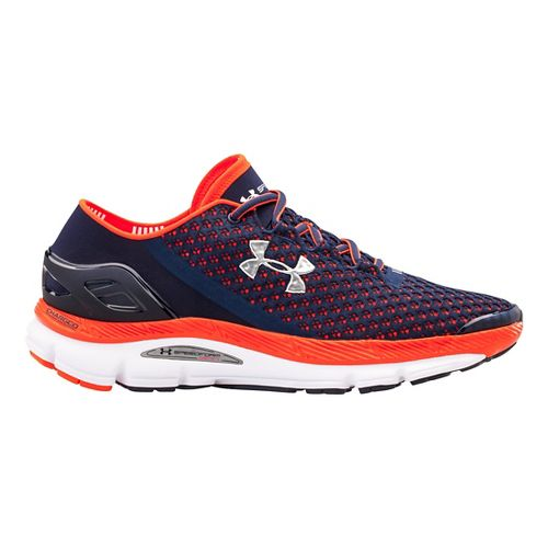 Mens Under Armour Speedform Gemini Running Shoe - Midnight Navy/Orange 17
