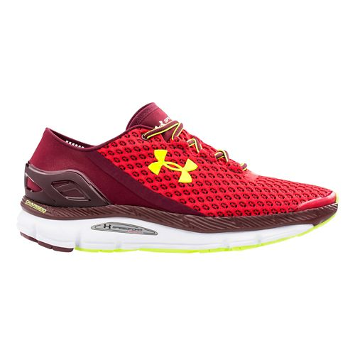 Mens Under Armour Speedform Gemini Running Shoe - Red/Yellow 14