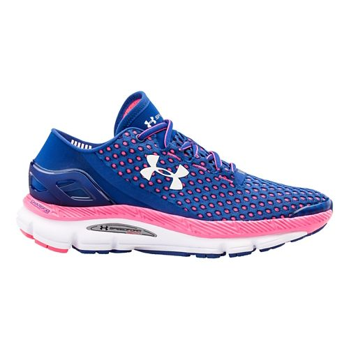 Womens Under Armour Speedform Gemini Running Shoe - American Blue/Cerise 6.5