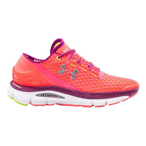 Womens Under Armour Speedform Gemini Running Shoe - Pink Shock/Aubergine 6.5