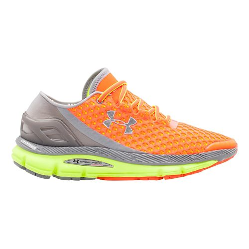 Womens Under Armour Speedform Gemini Running Shoe - After Burn/Yellow 8.5