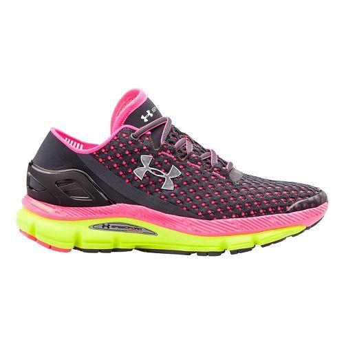 Womens Under Armour Speedform Gemini Running Shoe - Charcoal/Pink 7
