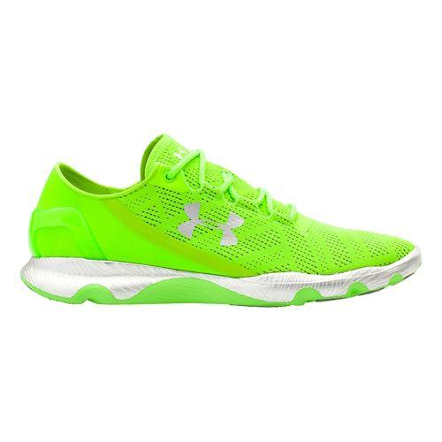 Mens Under Armour Speedform Apollo Vent Running Shoe - Hyper Green/Silver 9.5