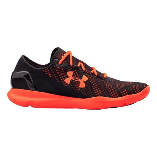 Mens Under Armour Speedform Apollo Vent Running Shoe - Black/Red 10.5