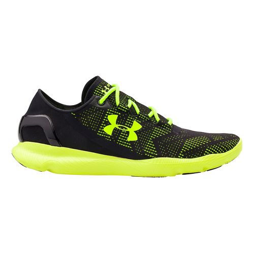 Mens Under Armour Speedform Apollo Vent Running Shoe - Black/Yellow 9.5
