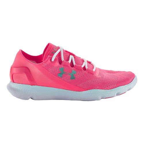 Womens Under Armour Speedform Apollo Vent Running Shoe - Cerise/White 6