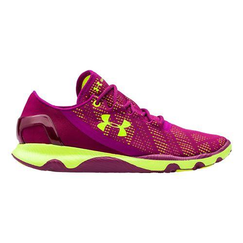 Womens Under Armour Speedform Apollo Vent Running Shoe - Aubergine 10.5