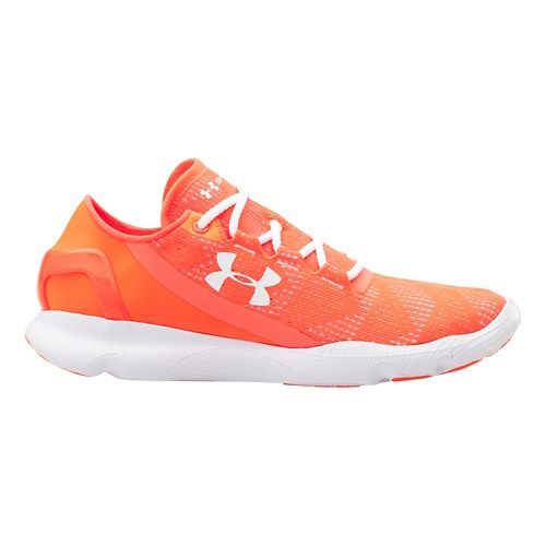 Womens Under Armour Speedform Apollo Vent Running Shoe - After Burn/White 11