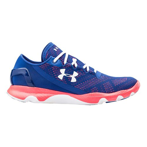 Womens Under Armour Speedform Apollo Vent Running Shoe - Navy/Pink 6