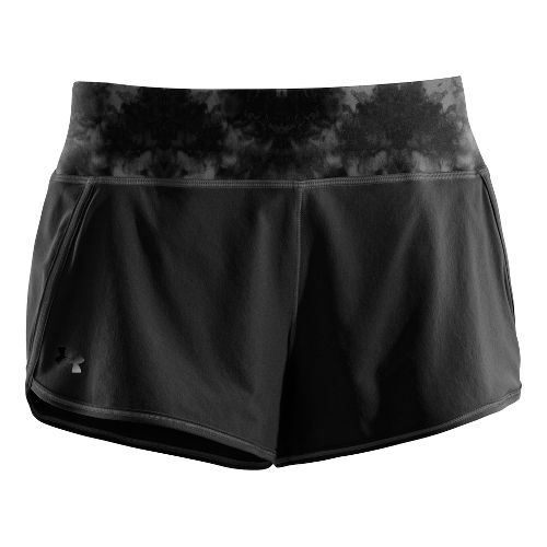 Womens Under Armour UA Get Set Go Lined Shorts - Black/Print XL