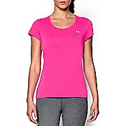 Womens Under Armour Heatgear Flyweight T Short Sleeve Technical Tops - Rebel Pink S