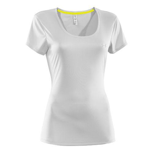 Womens Under Armour Heatgear Flyweight T Short Sleeve Technical Tops - White M
