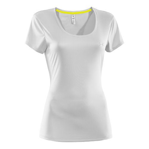 Womens Under Armour Heatgear Flyweight T Short Sleeve Technical Tops - White S