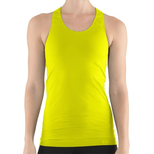 Womens Under Armour UA Seamless Tank Technical Tops - Neon Yellow XL