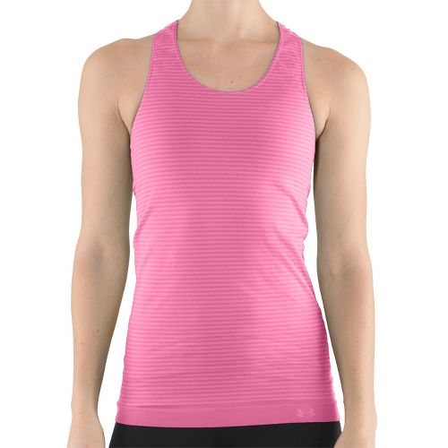 Womens Under Armour UA Seamless Tank Technical Tops - Pink Shock L