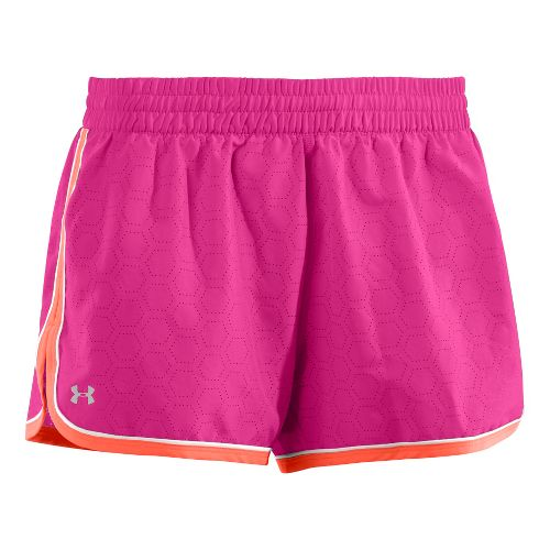Womens Under Armour Great Escape II Perf Lined Shorts - Pink Paradise L