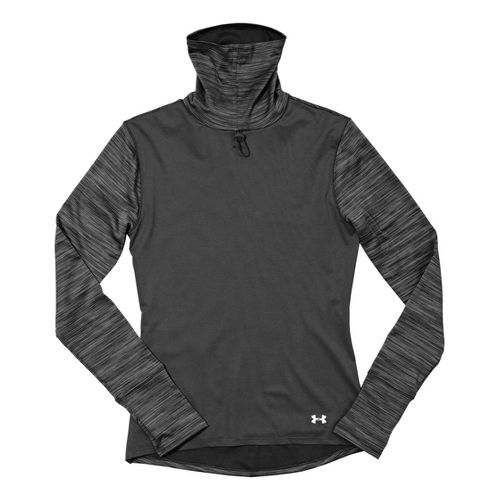 Womens Under Armour UA Run Second Wind T-Neck Long Sleeve No Zip Technical Tops - ...