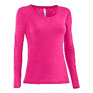 Womens Under Armour UA Ultimate Burnout Long Sleeve No Zip Technical Tops