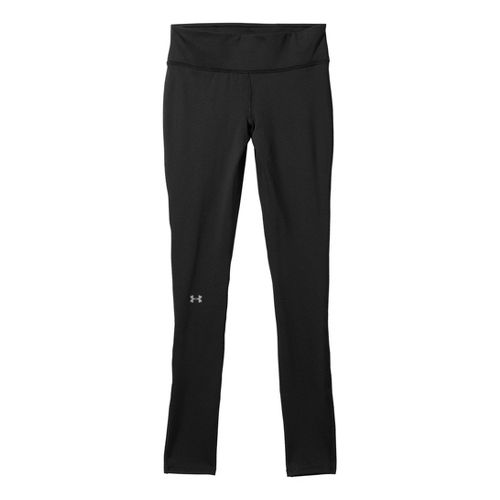 Womens Under Armour UA Qualifier Coldgear Fitted Tights - Black L