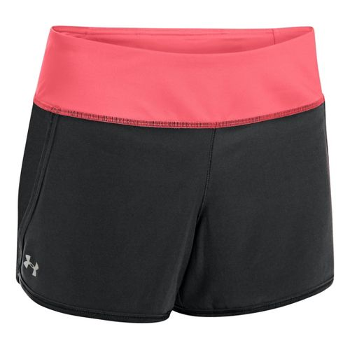 Womens Under Armour UA Get Going Lined Shorts - Black/Crystal Pink XL