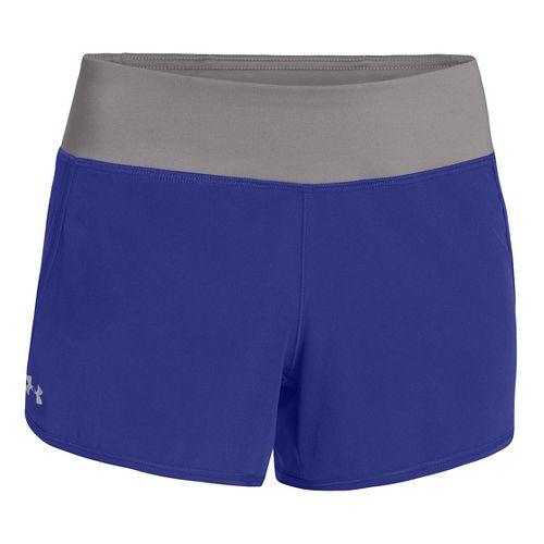 Womens Under Armour UA Get Going Lined Shorts - Iris/Grey M