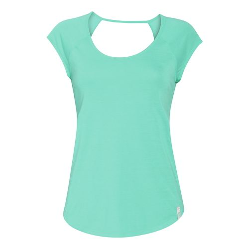 Womens Under Armour UA Fly-By T Short Sleeve Technical Tops - Crystal/Crystal L
