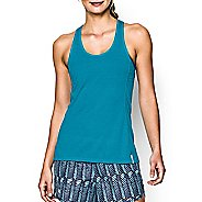 Womens Under Armour Fly-By Stretch Mesh Tank Technical Tops