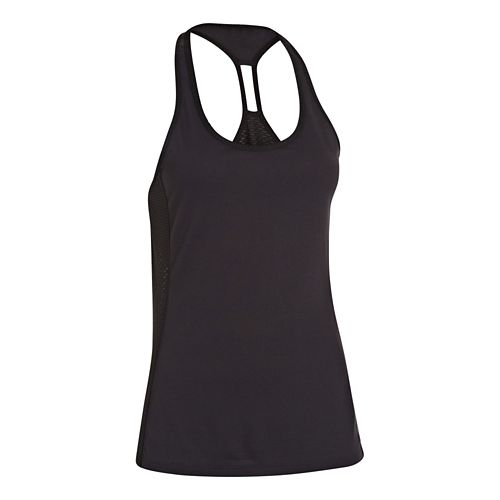 Womens Under Armour UA Fly-By Stretch Mesh Tank Technical Tops - Black L
