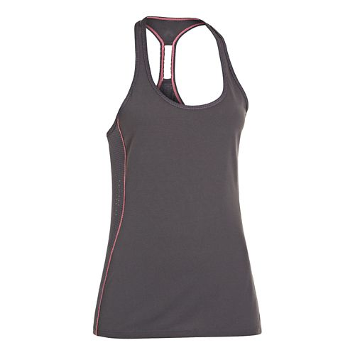 Womens Under Armour Fly-By Stretch Mesh Tank Technical Tops - Lead S