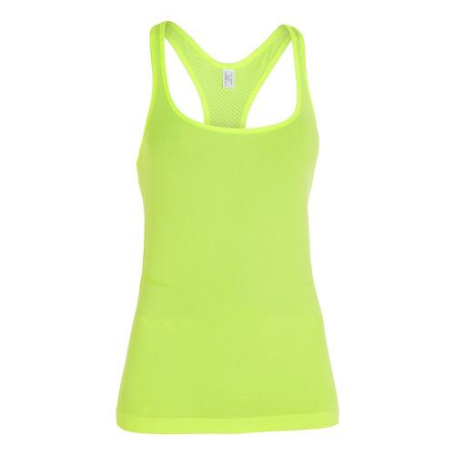 Womens Under Armour Seamless Tank Technical Tops - Laser Yellow XL