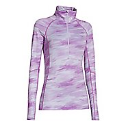 Womens Under Armour Coldgear Cozy Printed Long Sleeve 1/2 Zip Technical Tops